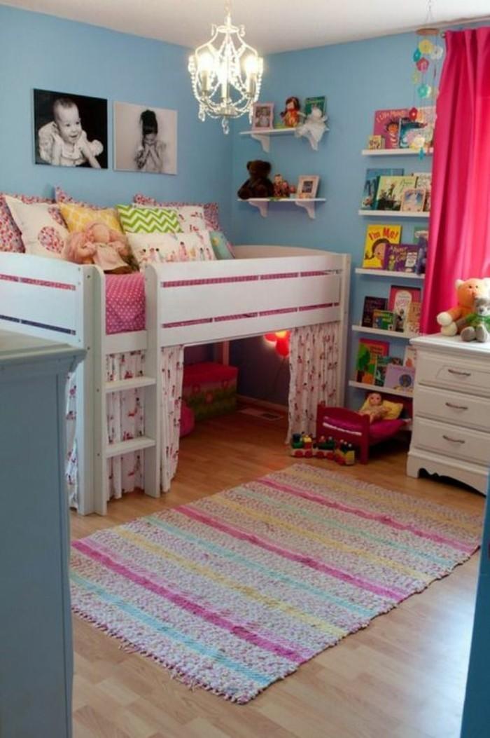 petite-chambre-comment-aménager-enfants-fillettes-coins-de-jeux-et-etageres-livres