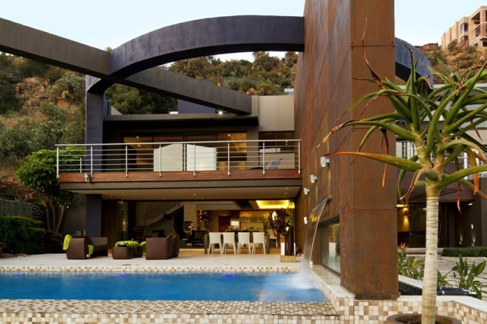 1001 mod les spectaculaires de piscine avec cascade for Maison cascade