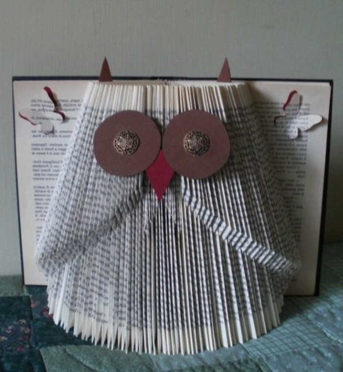 pliage-de-livre-hibou-art-origami-art-avec-objets-quotidiens