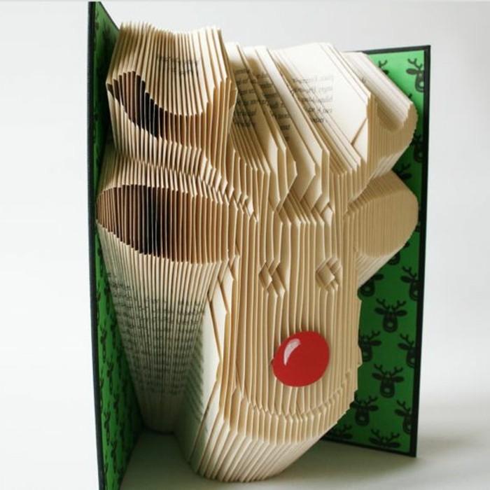 pliage-de-livre-sculpter-un-cerf-avec-un-livre