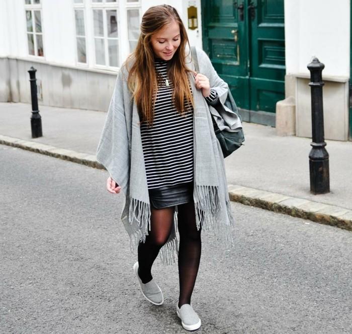poncho-manteau-air-simple-vision-jeune-fille-jupe-denim