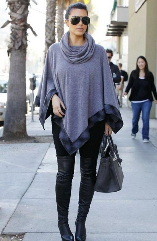 poncho-mode-lunettes-de-soleil-noirs-bottes-hautes-genoux-femme