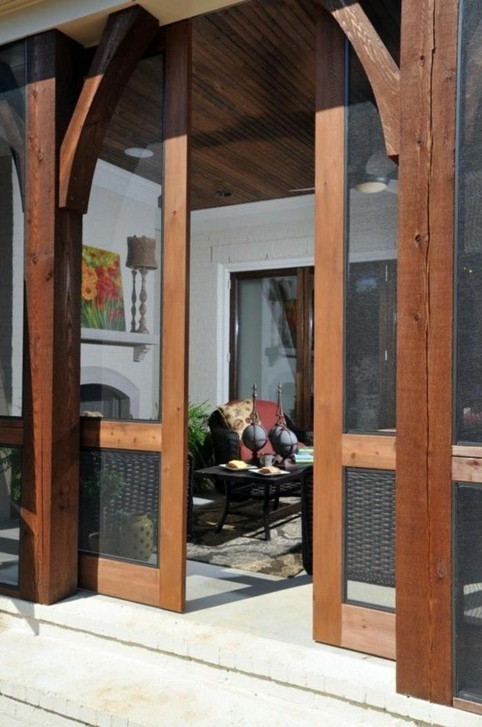 porte-de-grange-extérieure-porte-double-vitrée