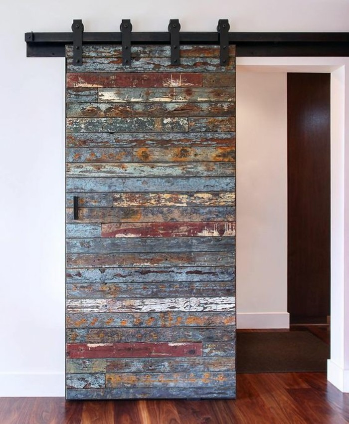 1001 id es pour int grer la porte de grange dans votre int rieur. Black Bedroom Furniture Sets. Home Design Ideas