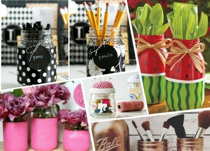 1001 id es innovantes pour que faire avec des pots en verre. Black Bedroom Furniture Sets. Home Design Ideas