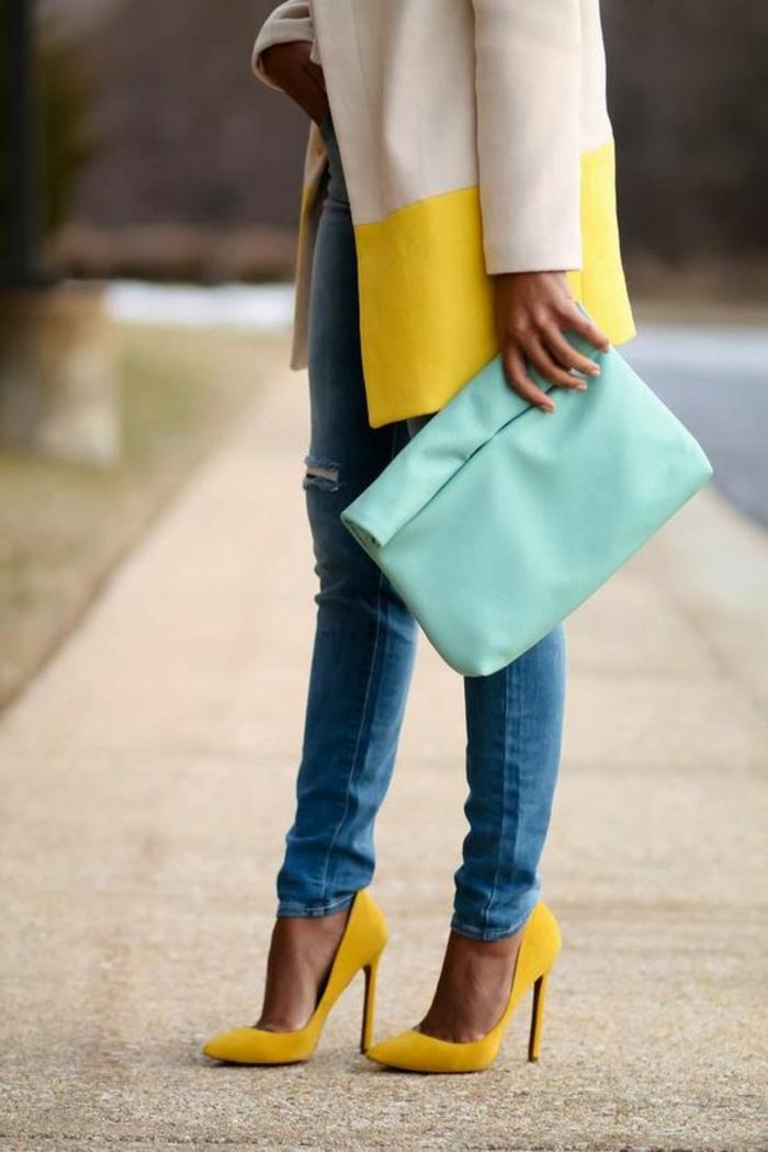 La couleur moutarde une tendance rayonnante en 64 photos - Quelle chaussure avec une combinaison ...