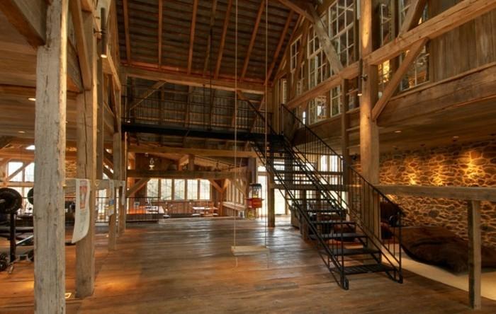 renovation-ferme-materiaux-naturels-ambiance-moderne-balancoire-decorative