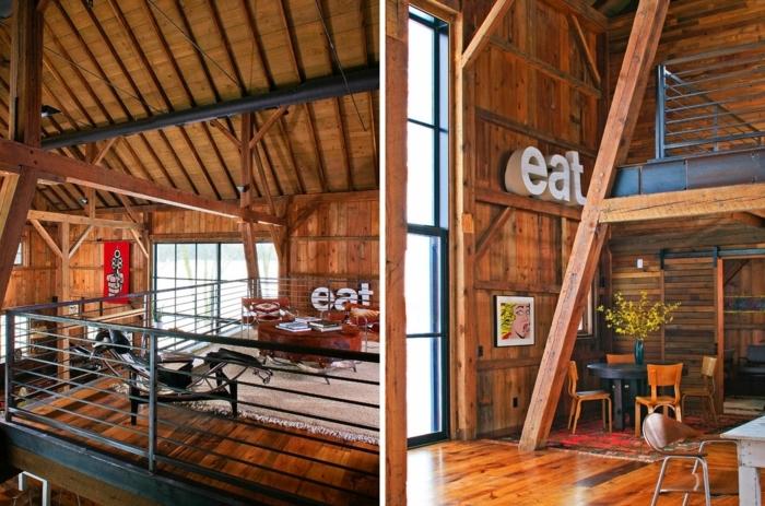 renovation-ferme-parquet-en-bois-idee-interieur-hangar-peinture-fleurs-sechees