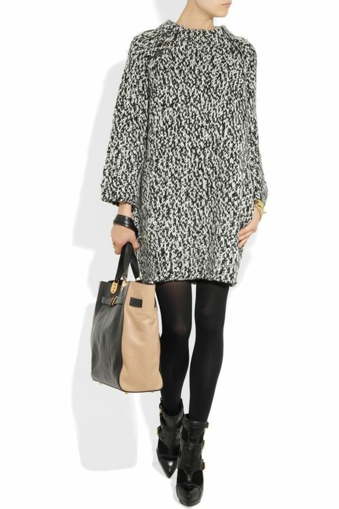 robe-en-laine-en-blanc-et-noir-mini