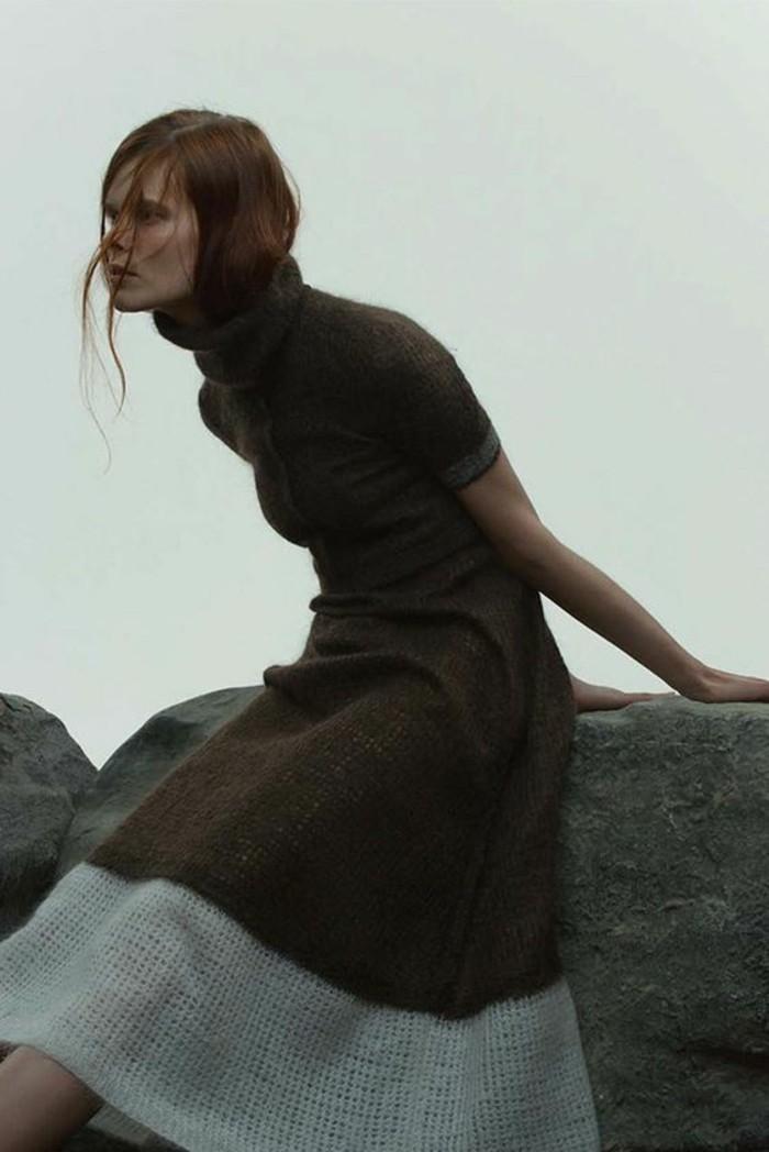 robe-en-laine-femme-aux-manches-courtes-couleurs
