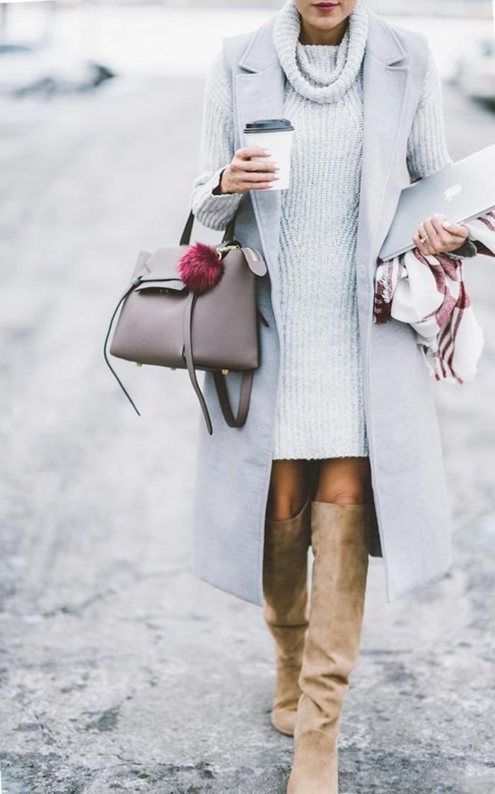 robe-en-laine-fine-élégance-idée-de-combinaison
