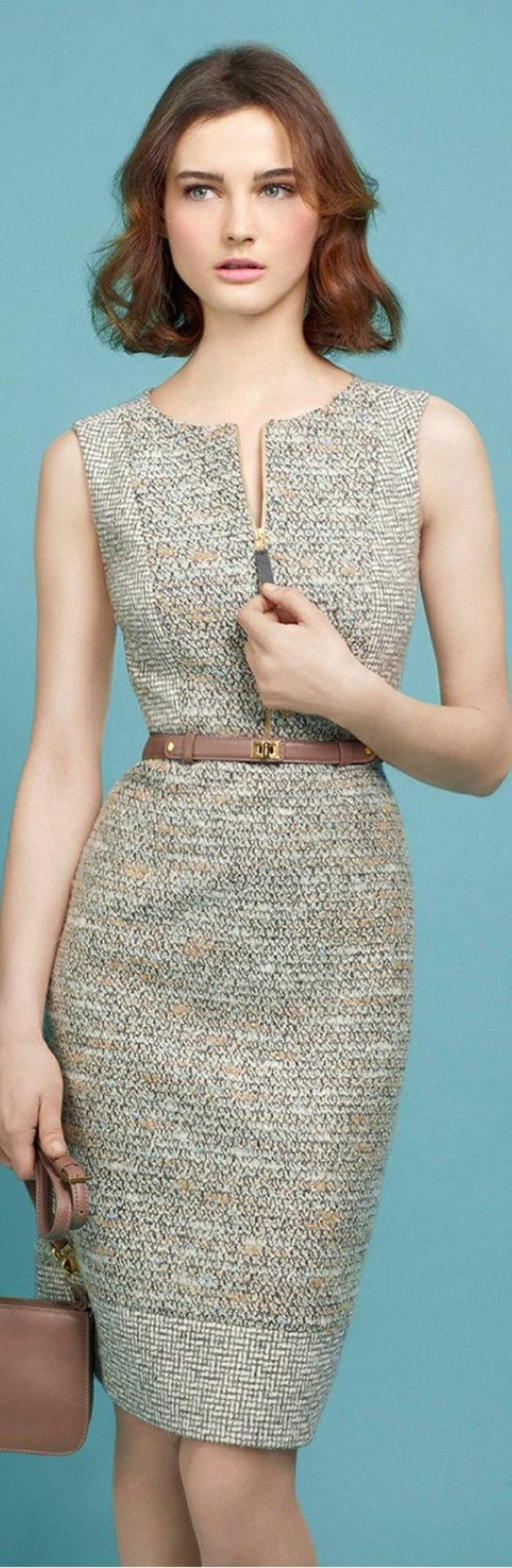 1001 id es pour porter votre robe en laine les looks. Black Bedroom Furniture Sets. Home Design Ideas