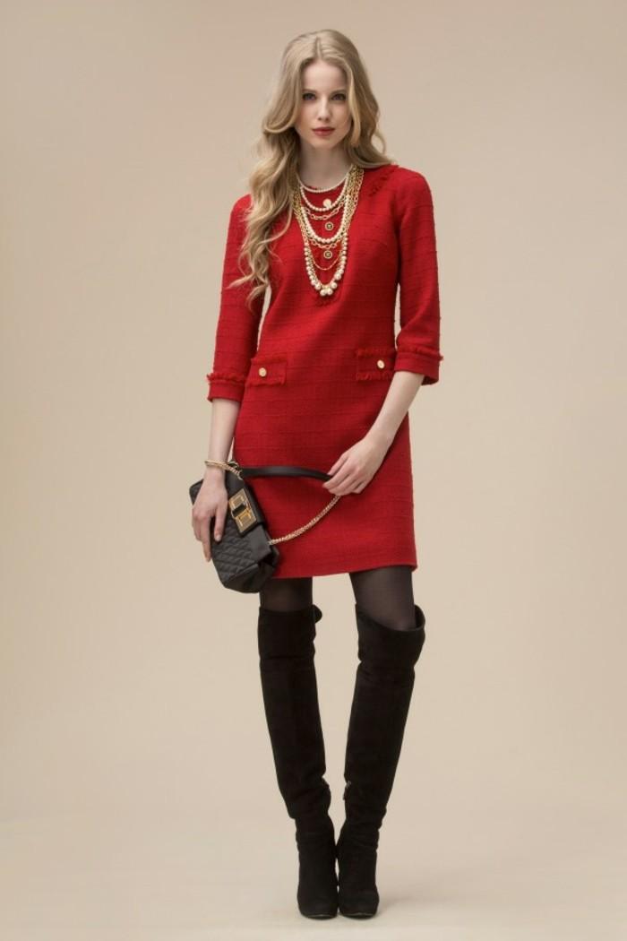 robe-en-laine-rouge-Luisa-Spagnoli-resized