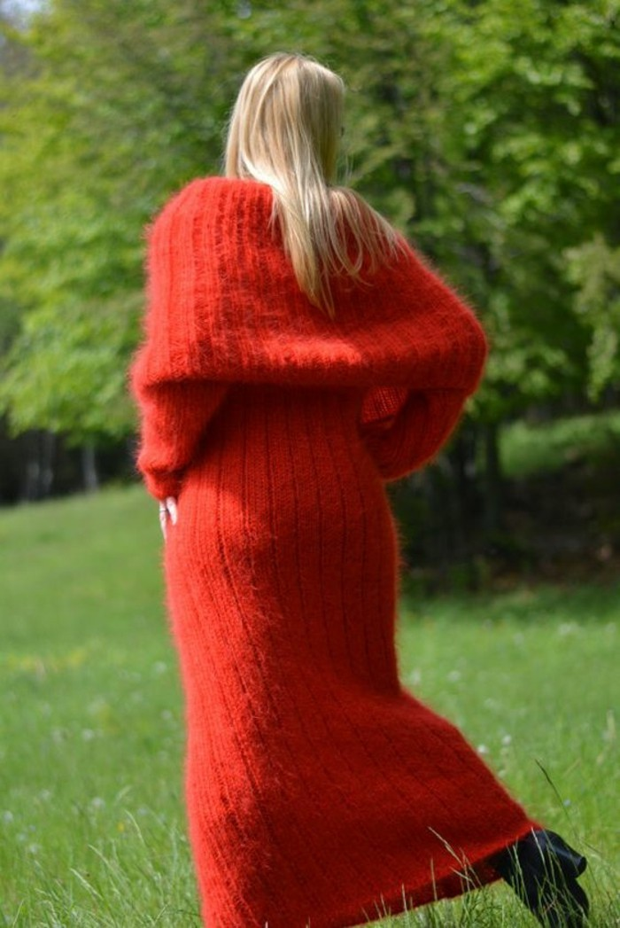robe-laine-femme-en-rouge-mohair