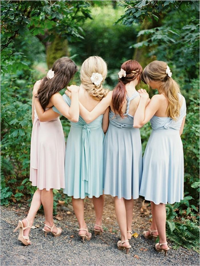 robe-rose-poudré-robe-de-soirée-cérémonie-courte-robe-pastel