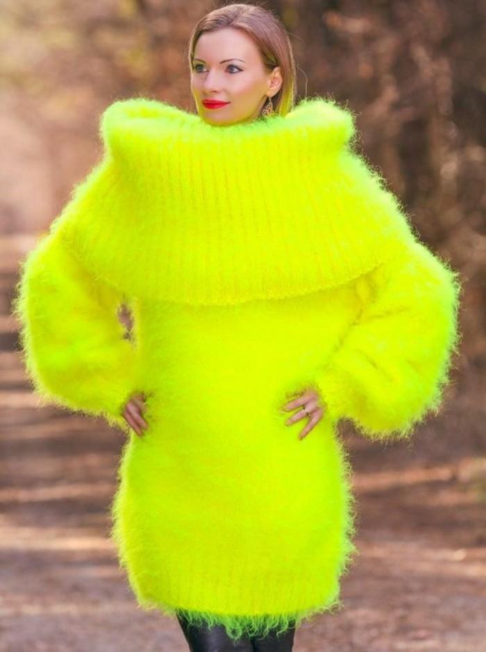 robes-en-laine-couleur-fluo-néon