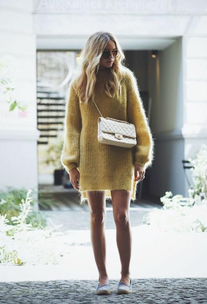 robes-en-laine-couleur-jaune-canard