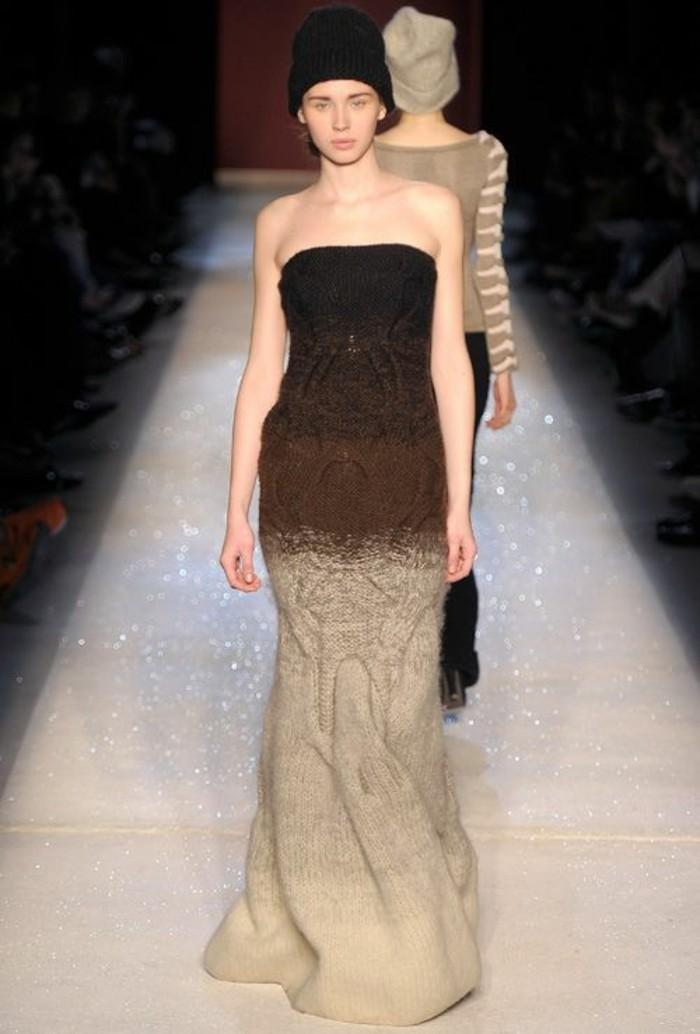 robes-en-laine-pour-femme-épaules-nues-bustier