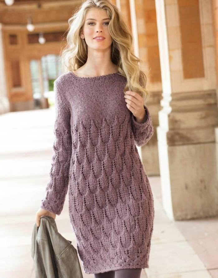 Robe d'hiver femme en laine