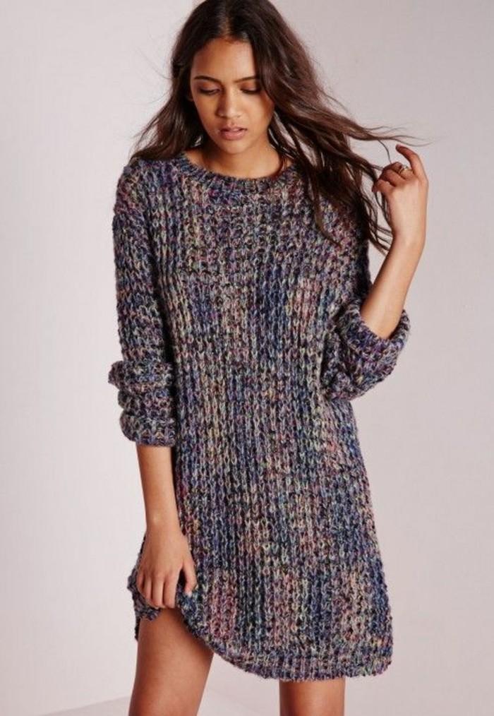 1001 id es pour porter votre robe en laine les looks hot tendance. Black Bedroom Furniture Sets. Home Design Ideas