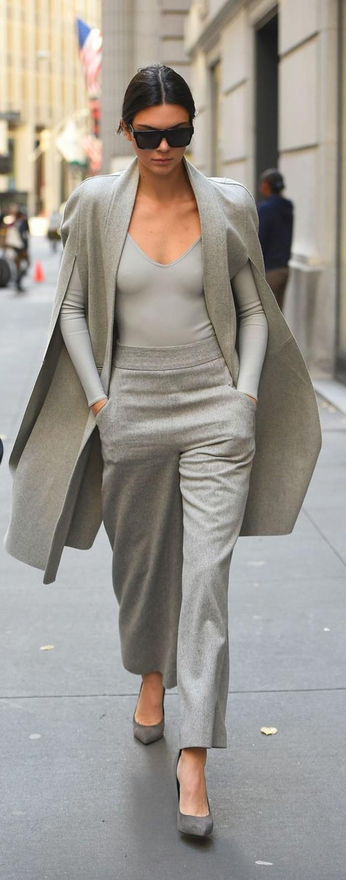 robes-manches-longues-hiver-tenue-de-jour-tenue-gris