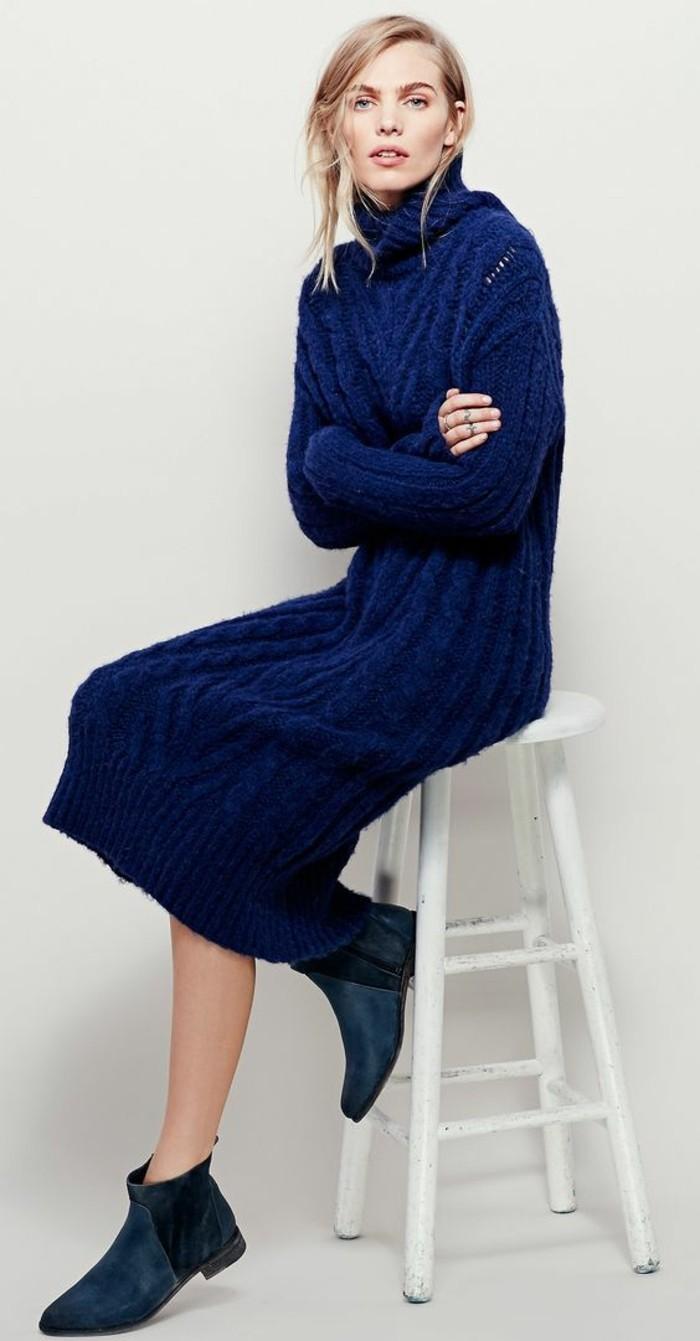 rone-en-laine-bleu-royal-longue-col-roulé-couvrant