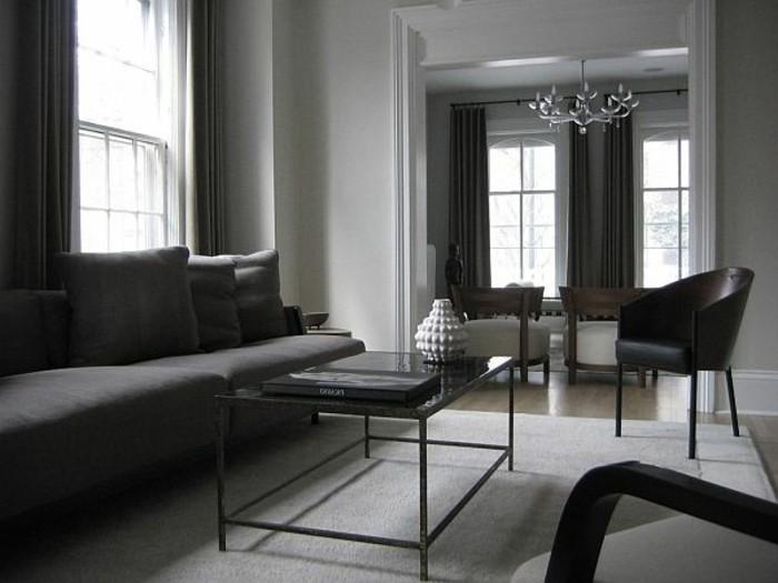 salon-gris-et-noir-salle-de-séjour-spacieuse-sofa-moderne