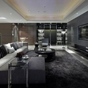 Le salon gris et noir - comment le décorer