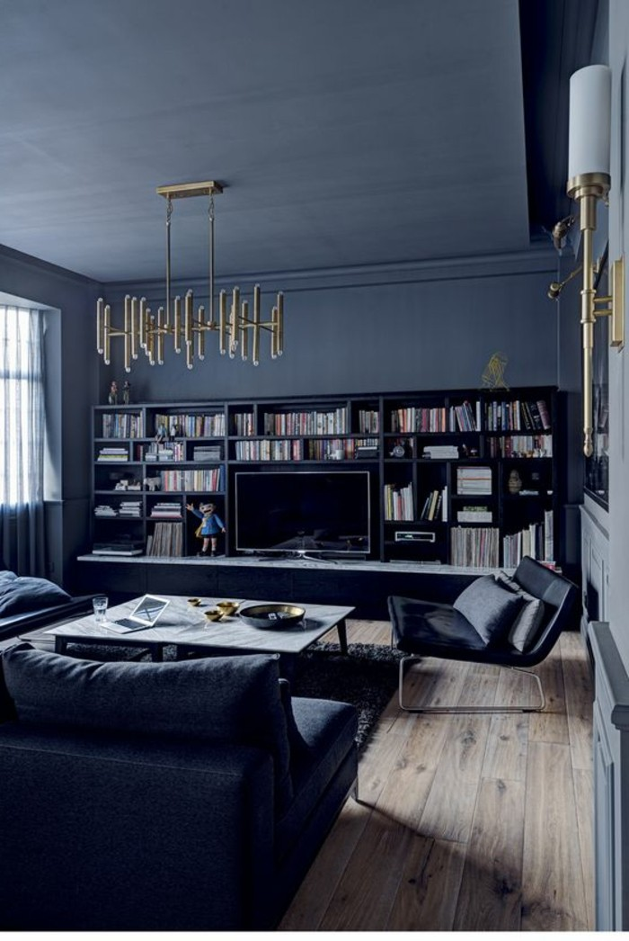 salon gris bois. Black Bedroom Furniture Sets. Home Design Ideas