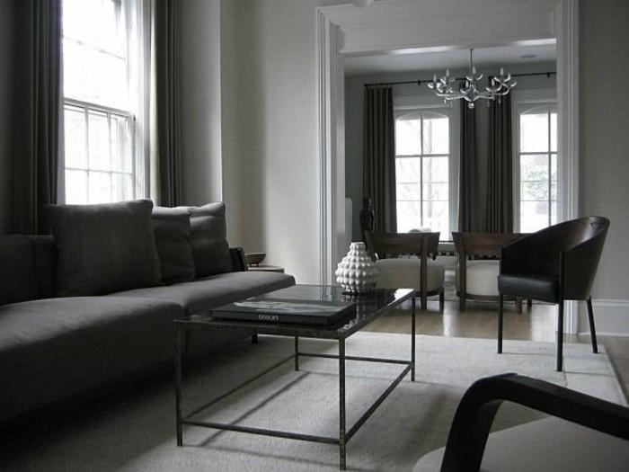 salon-noir-blanc-gris-design-d'intérieur-moderne