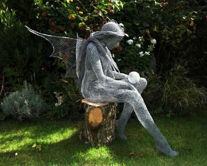 Sculpture en fil de fer 40 photos impressionnantes - Figurine de jardin ...