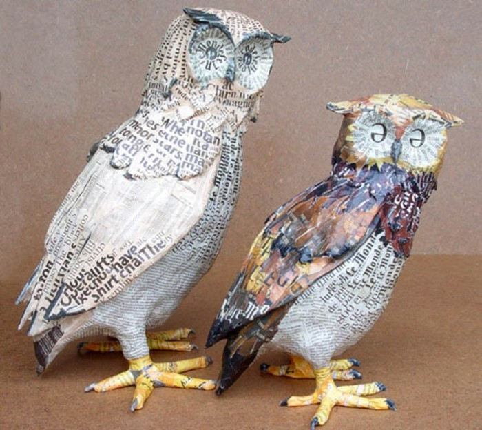 How To Make A Owl Out Of Paper Mache