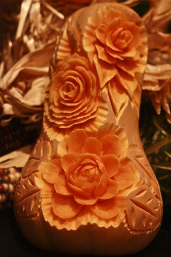 sculpture-sur-fruits-et-légumes-figurines-de-potimarron