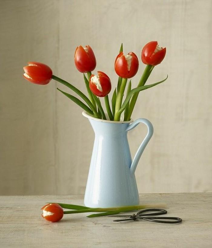 sculpture-sur-fruits-et-légumes-tulipes-de-tomates-cherry