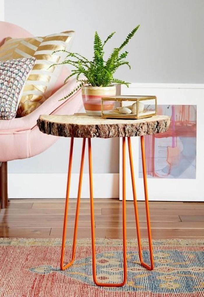 table-d'appointe-en-bois-recyclé-bricolage-récup