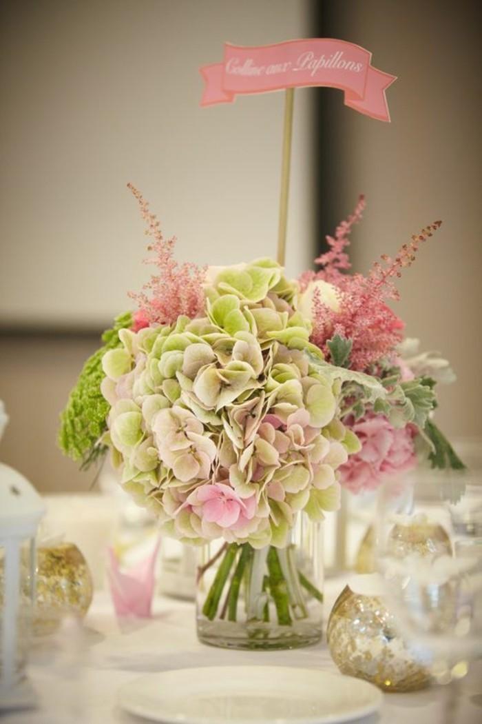 Bouquet de table pour mariage latest petit bouquet de - Deco printempsidees avec fleurs et motif floral ...