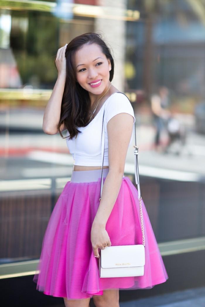 tutu-femme-tendances-de-mode-jupe-cyclamen-sac-blanc