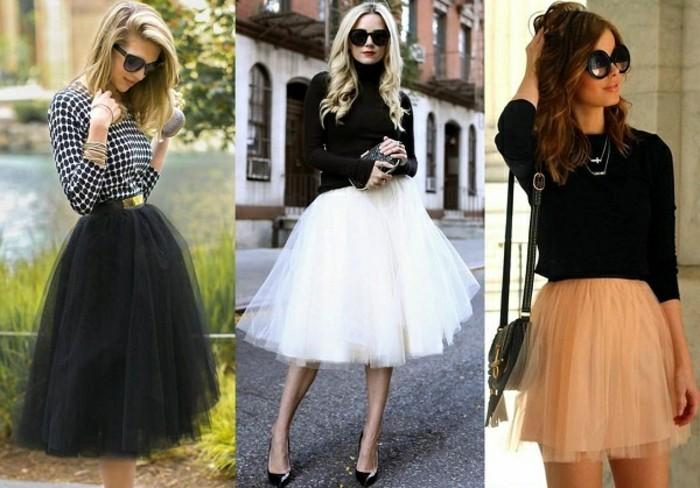 tutu-noir-femme-outfits-modernes-avec-jupes-en-tulle