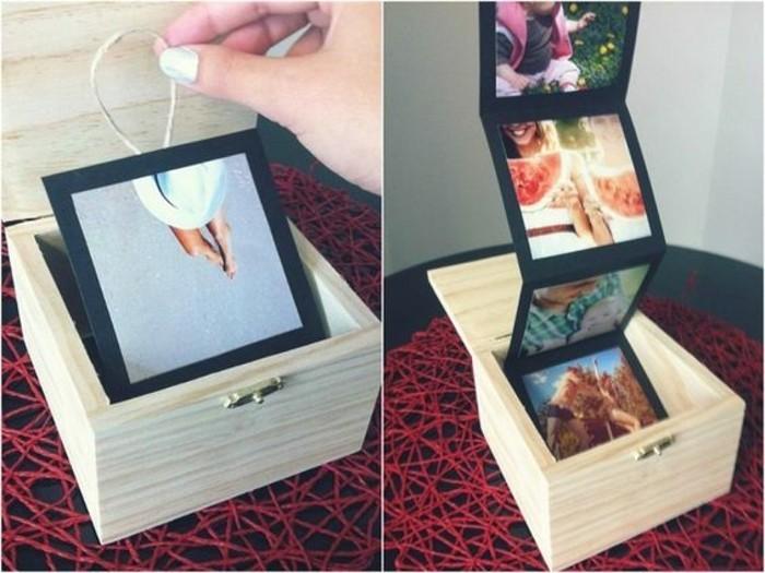 une-boite-en-bois-remplie-de-photos-souvenirs-idée-cadeau-meilleure-amie-a-fabriquer-soi-meme