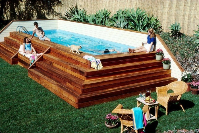 piscine bois forme originale