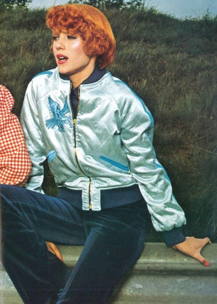 veste-baseball-femme-vintage-nylon-bleu-ciel-turquoise-bombers