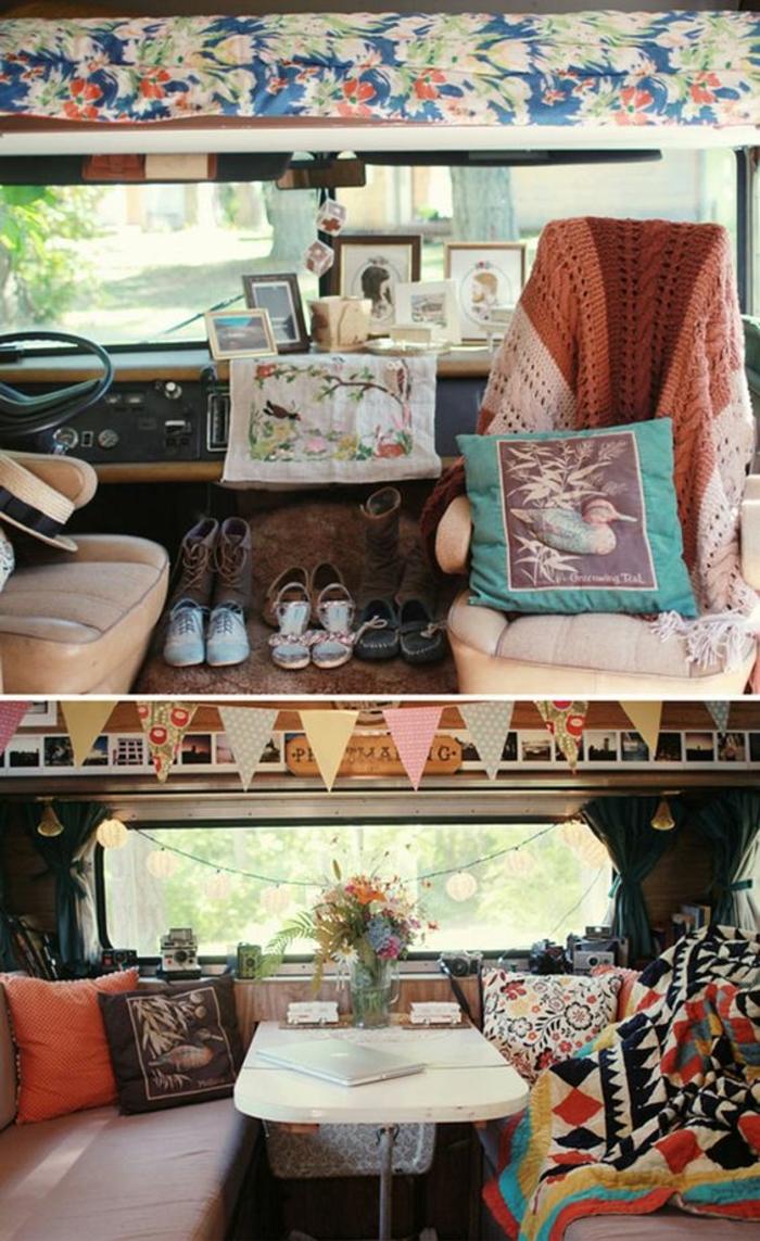 vivre-en-mobil-home-toute-l-année-inspiration-gypsy-boho-motifs-géométriques-ethniques