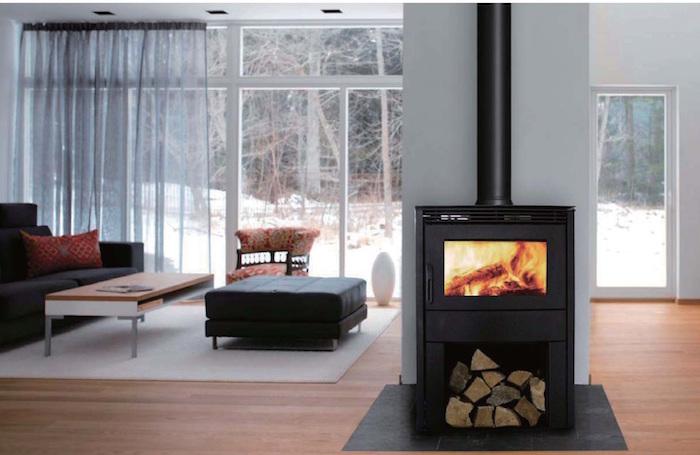 Canature-Gemini-GF-32 insert cheminée poele fonte metal bois interieur carré fermé