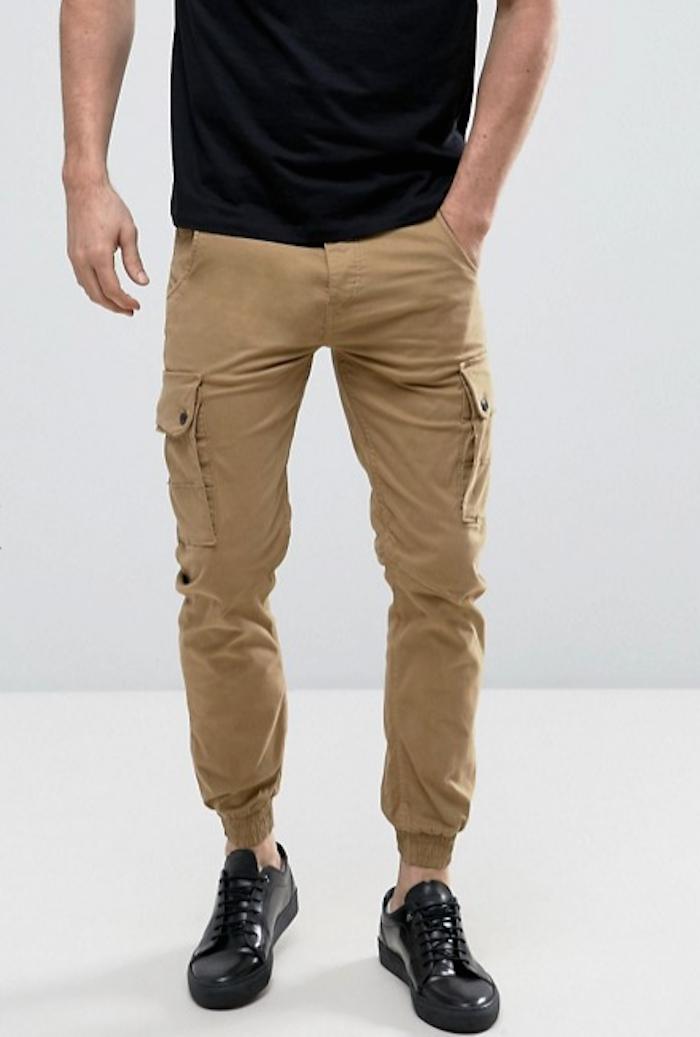 Jack & Jones Intelligence - Pantalon cargo slim resserré aux chevilles
