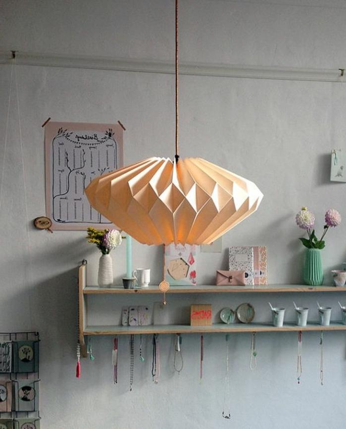 abat-jour origami facile en papier