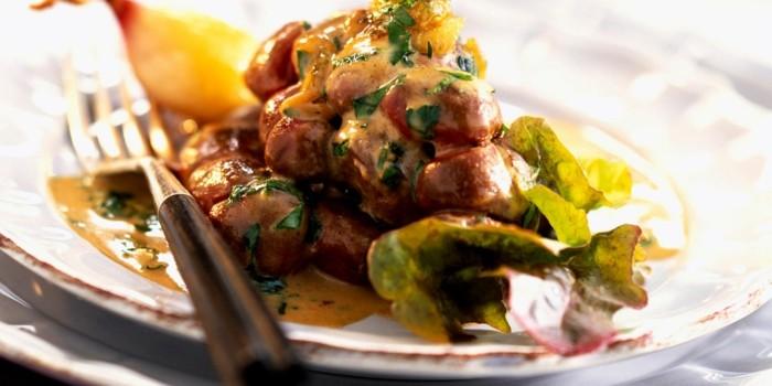 les abats, des aliments riches en fer, un plat principal avec rognon, remède efficace contre le déficit en fer