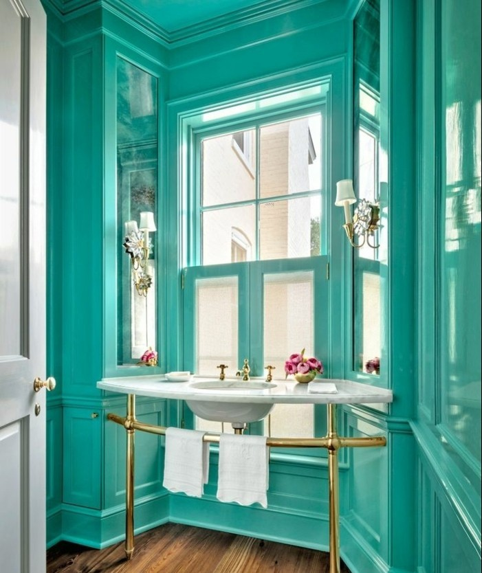 emejing salle de bain turquoise et bois photos awesome interior home satellite. Black Bedroom Furniture Sets. Home Design Ideas