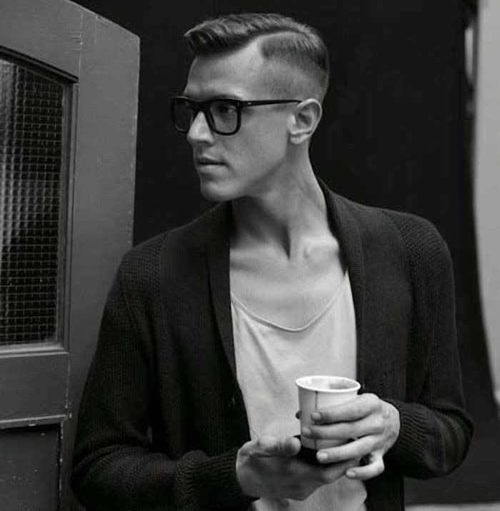 coiffure année 50 avec dégradé américain homme