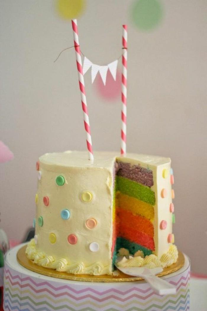 beau-gâteau-anniversaire-gateau-mariage-idée-couleurs-arc-en-ciel