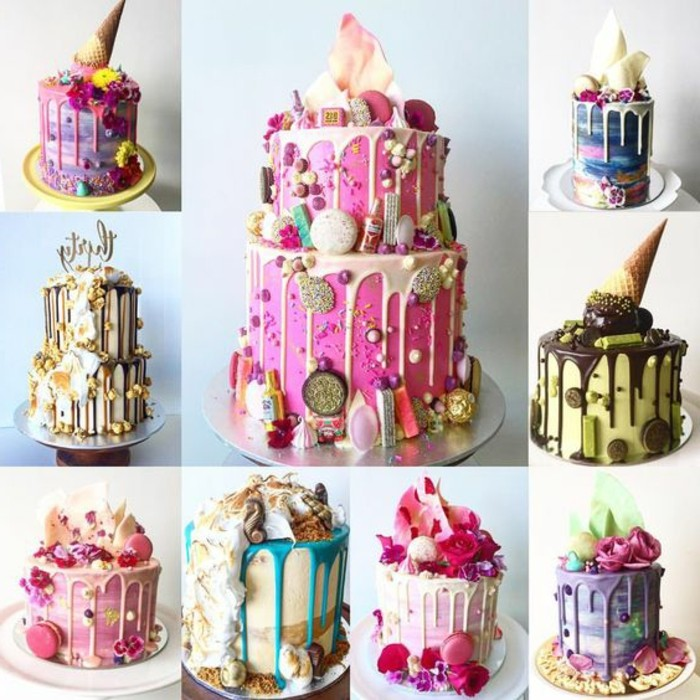 beau-gâteau-anniversaire-gateau-mariage-idée-différnts-varianfs